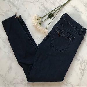 White House Black Market dark wash skinny leg jean
